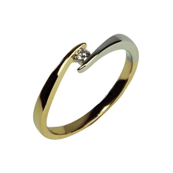 Brillantring Gold 585/000 bicolor