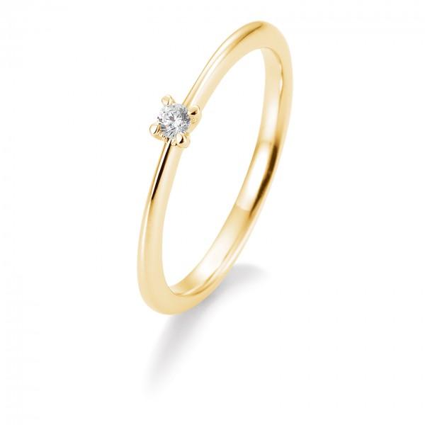 Saint Maurice Verlobungsring Gelbgold 585/000 mit Brillant